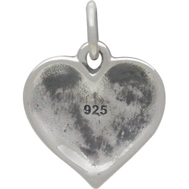 Sterling Silver Mended Heart Charm 16x12mm
