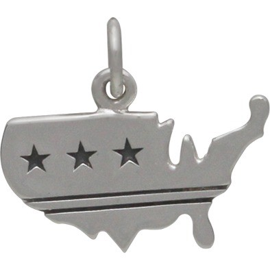United States Charm with Stars and Stripes DISCONTINUED