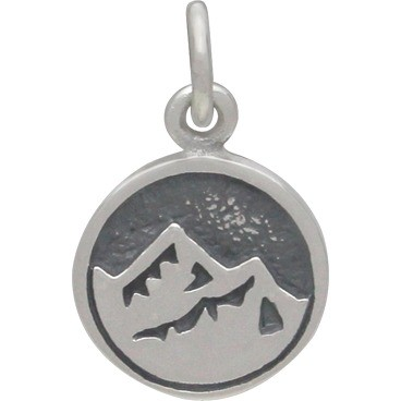 Sterling Silver Earth Charm -  Four Elements 16x10mm