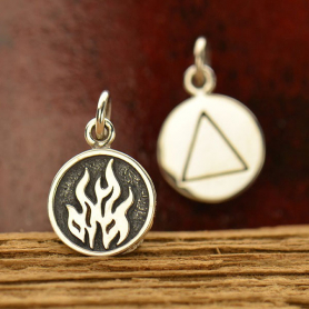 Sterling Silver Fire Charm - Four Elements