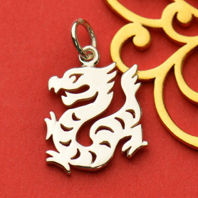 Sterling Silver Chinese Zodiac Charm - Dragon