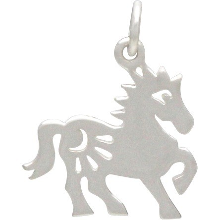 Sterling Silver Chinese Zodiac Charm - Horse