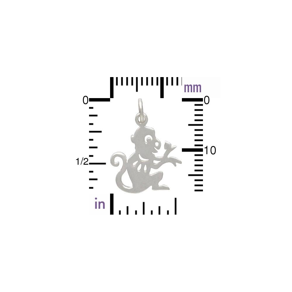 Sterling Silver Chinese Zodiac Charm - Monkey