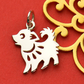 Sterling Silver Chinese Zodiac Charm - Dog