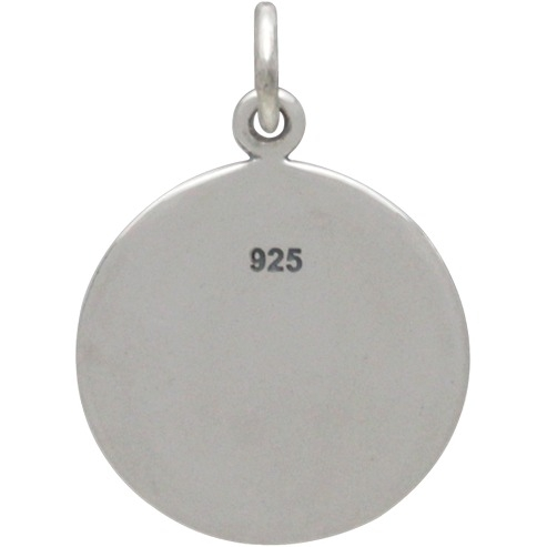 Sterling Silver Wander Discover Explore Quote Charm 20x14mm