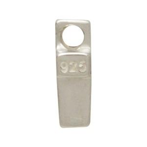 Sterling Silver Cross Bead 9x2mm