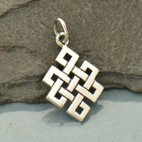 Sterling Silver Endless Knot Charm