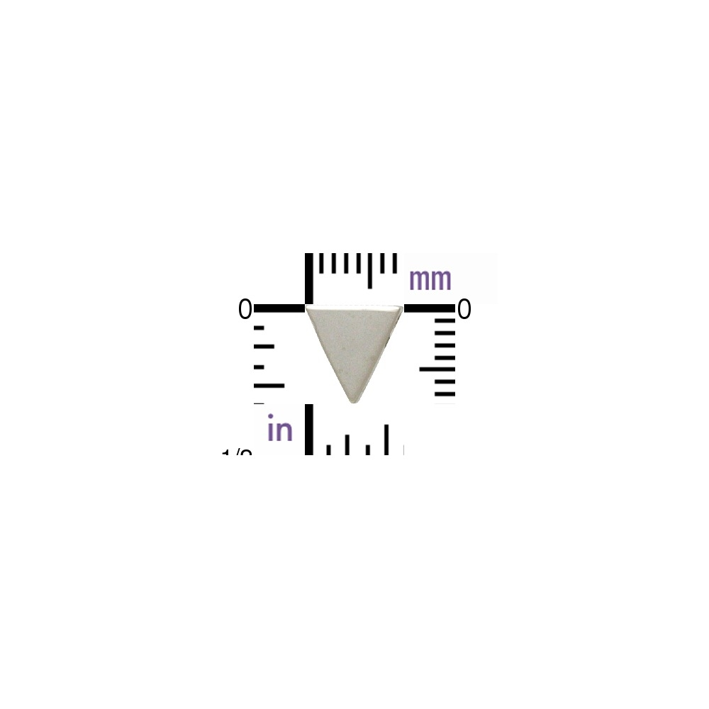 Sterling Silver Triangle Bead 7x5mm