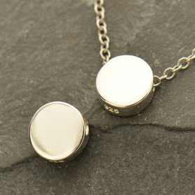 Sterling Silver Circle Bead