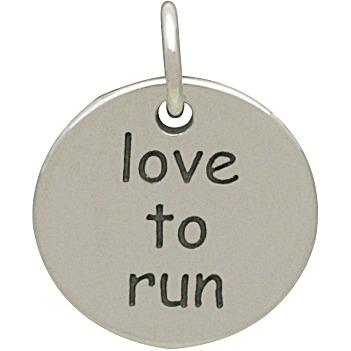 Silver Love to Run Fitness Jewelry Charm DISCONTINUED