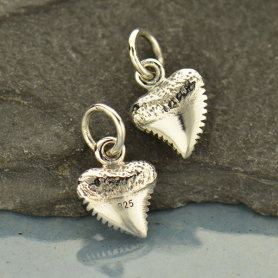 Tiny Sterling Silver Shark Tooth Charm