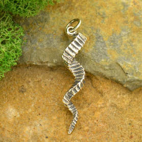 Sterling Silver Twisted Horn Charm