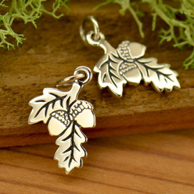 Silver Acorn PendantOak Branch with Two Acorns DISCONTINUED