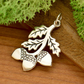 Sterling Silver Pendant with Three Acorns DISCONTINUED
