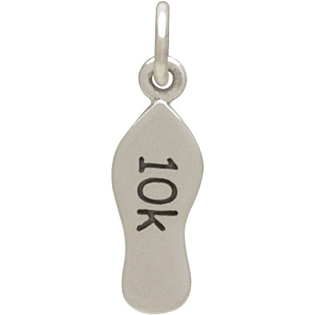Silver 10K Running Shoe Charm - Sports  Charms DISCONTINUED