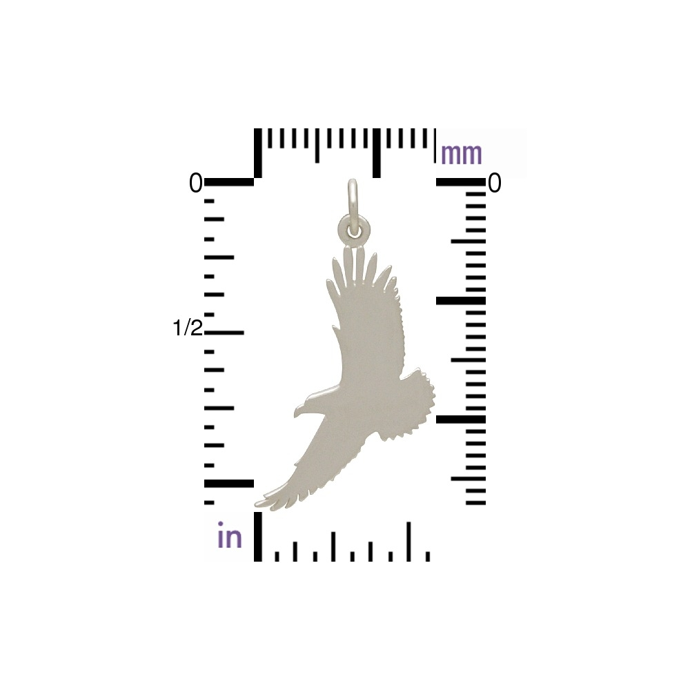 Sterling Silver Flying Eagle Charm 30x24mm