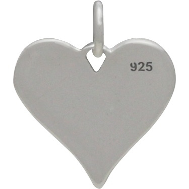 Silver Message Pendant - Always in My Heart 15x13mm