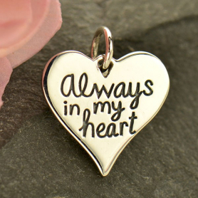 Silver Message Pendant - Always in My Heart