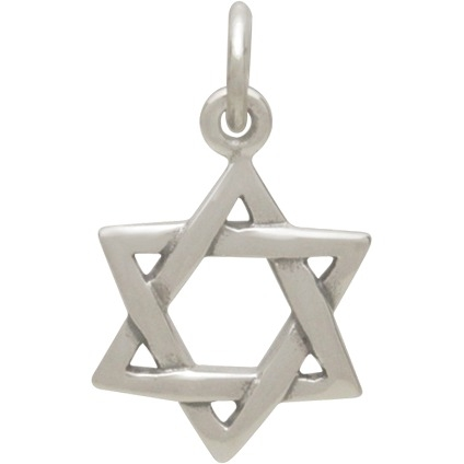 Sterling Silver Star of David Pendant 18x11mm