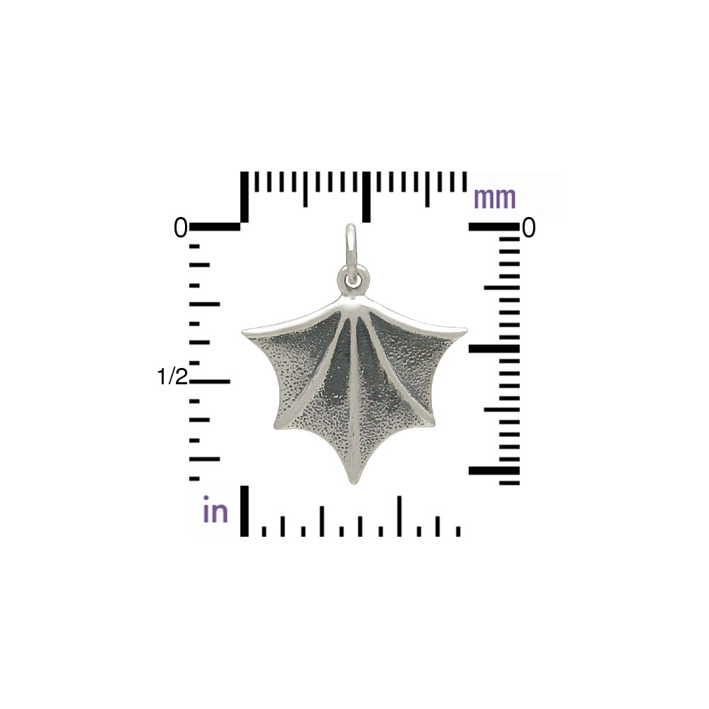Sterling Silver Bat Wing Charm 22x19mm