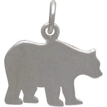 Sterling Silver Mama Bear Stamping Blank 16x15mm