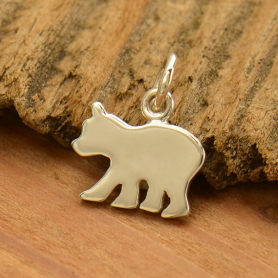Sterling Silver Baby Bear Stamping Blank