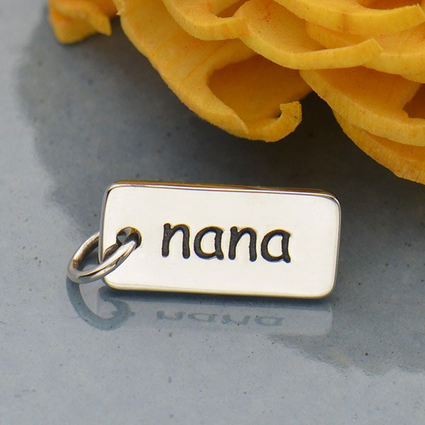 Sterling Silver USA Word Charm