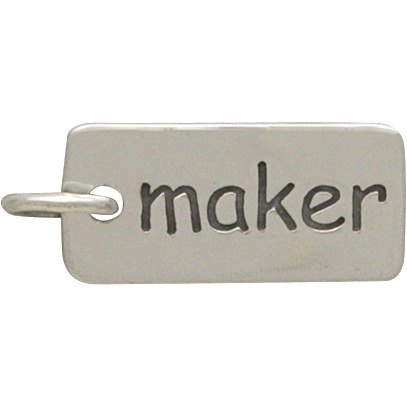 Sterling Silver Word Charm - Maker DISCONTINUED