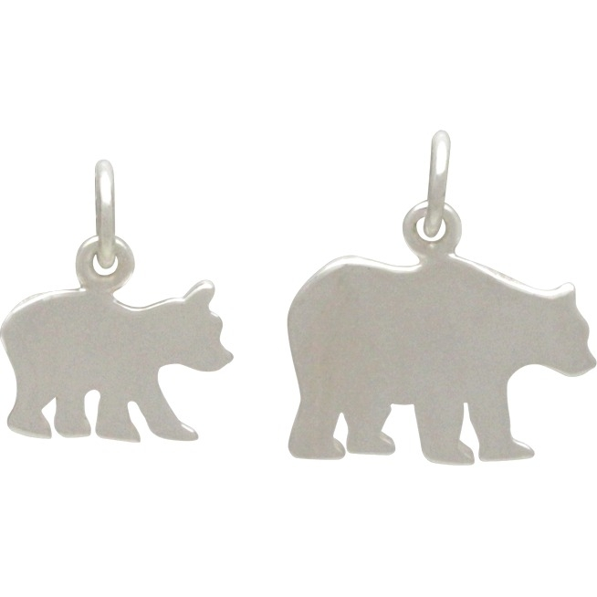 Sterling Silver Mama Bear and Baby Bear - Stamping Blank Set