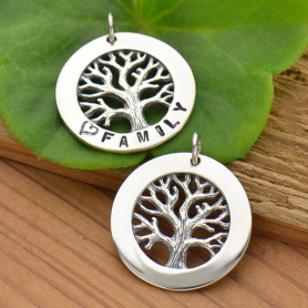 Silver Textured Tree of Life Stamping Blank Frame