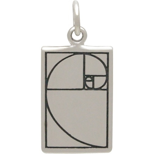 Sterling Silver Golden Ratio Charm