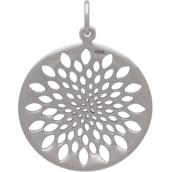 Sterling Silver Sacred Geometry Lotus Pendant