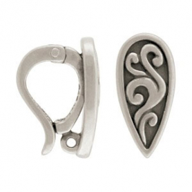 Sterling Silver Jewelry Bail -Removable Pendant Bail 23x17mm