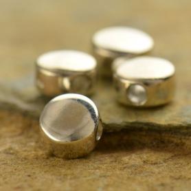 Sterling Silver Bead -  Blank 6x6mm