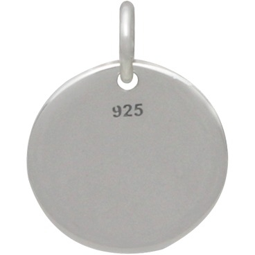 Sterling Silver Message Pendant - I Can and I Will 15x12mm