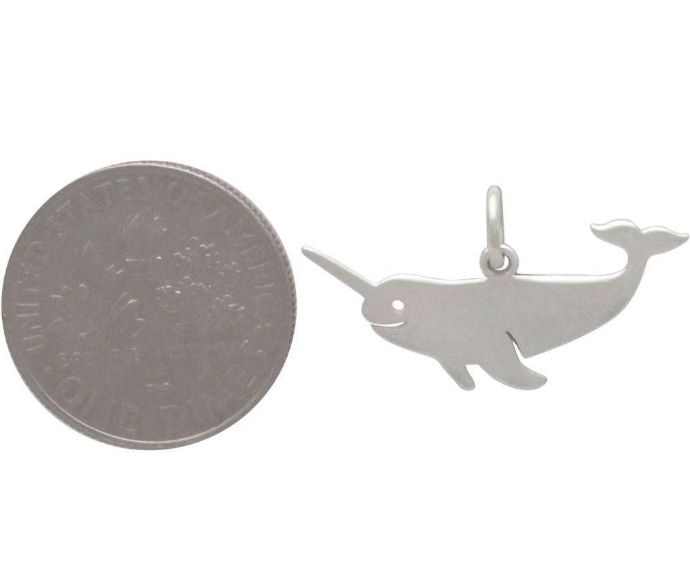 Sterling Silver Narwhal Charm