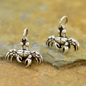 Sterling Silver Small Crab Charm