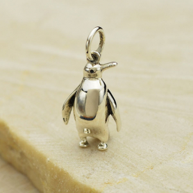 Sterling Silver Penguin Charm 20x9mm