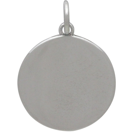 Sterling Silver Sun and Phases of the Moon Charm 20x14mm