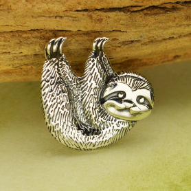 Sterling Silver Sloth Charm 15x15mm