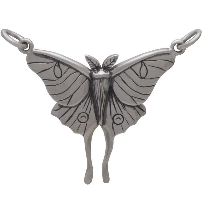 Sterling Silver Luna Moth Pendant Festoon