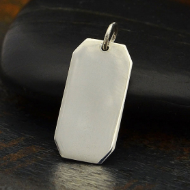 Sterling Silver Rectangle Stamping Blank Charm