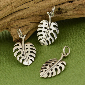 Sterling Silver Monstera Leaf Charm