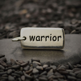 Sterling Silver Word Charm - Warrior