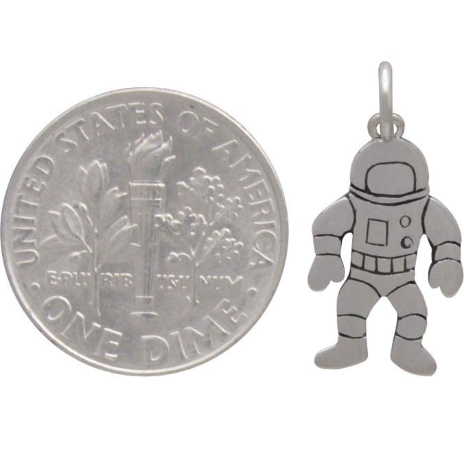 Sterling Silver Astronaut Charm