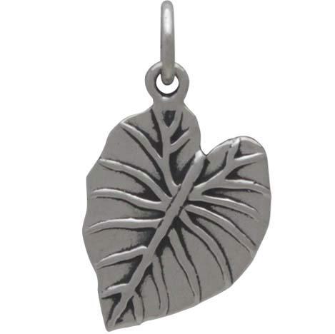 Sterling Silver Elephant Ear Leaf Charm