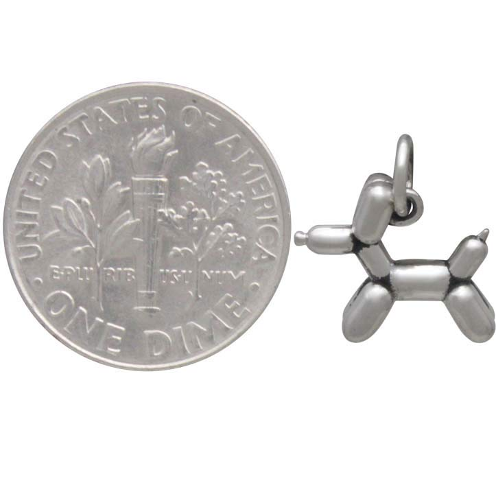 Sterling Silver Balloon Dog Charm