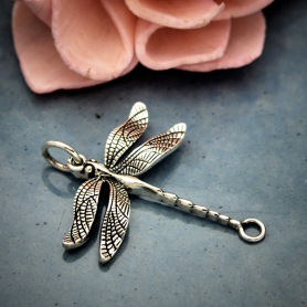 Sterling Silver Detailed Dragonfly Link