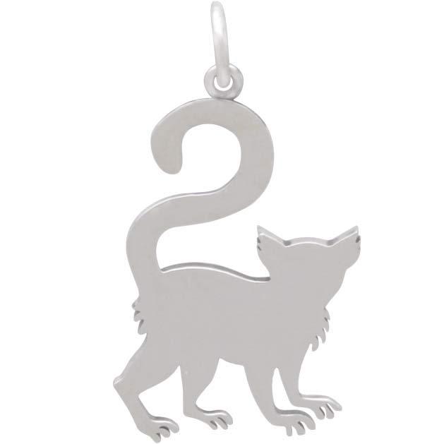 Sterling Silver Lemur Charm