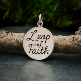 Sterling Silver Message Charm - Leap of Faith